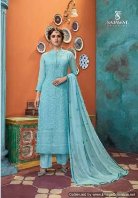 Sajawat Lakhnavi 5 Festive wear Ready Made dress material Collection