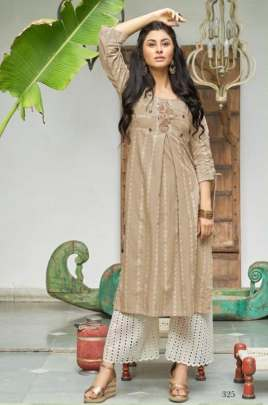 Sanskruti Present Jennifer vol 2 Straight Cut Kurti