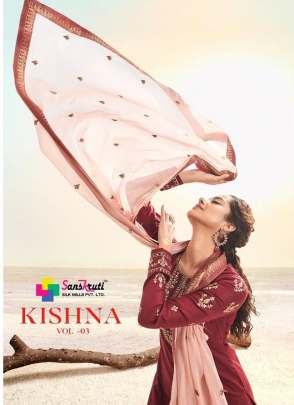 Sanskruti present  Kishana vol 3 party wear collection