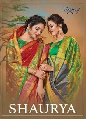 SAROJ SHAURYA 2 WEVING SILK WITH BUTTA