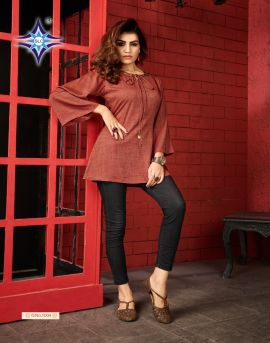Smart lady by SLC causal wear western top catalogue