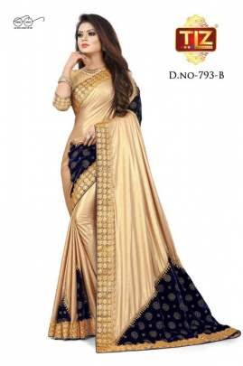 TIZ 793 FANCY SILK BASE HEAVY BORDER & PALLU DESIGNER