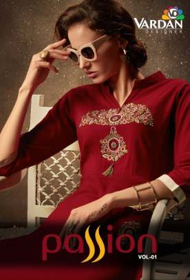 vardan presents passion vol 1 designer kurti catalogue